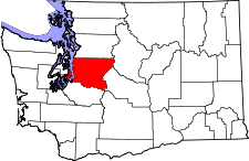 Washington Map showing King County