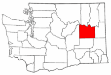 Washington Map showing Lincoln County