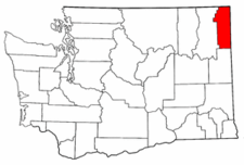 Washington Map showing Pend Oreille County
