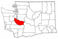 Washington Map showing Pierce County