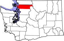 Washington Map showing Skagit County