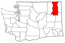 Washington Map showing Stevens County