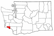 Washington Map showing Wahkiakum County
