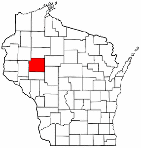 Wisconsin Map showing Chippewa County