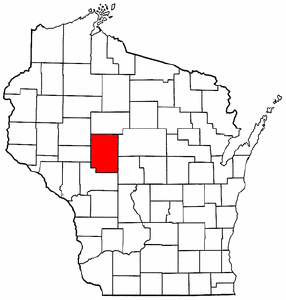 Wisconsin Map showing Clark County