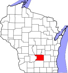 Wisconsin Map showing Columbia County