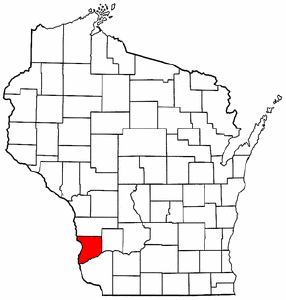 Wisconsin Map showing Crawford County