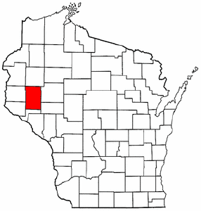 Wisconsin Map showing Dunn County