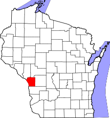 Wisconsin Map showing La Crosse County