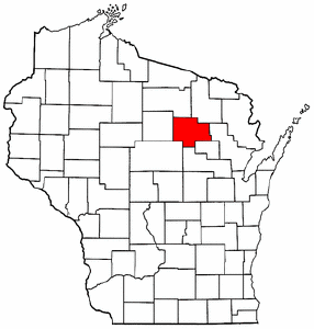 Wisconsin Map showing Langlade County