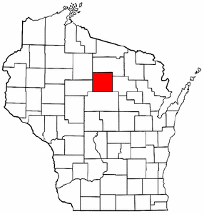 Wisconsin Map showing Lincoln County