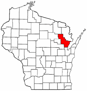 Wisconsin Map showing Oconto County