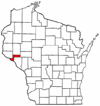 Wisconsin Map showing Pepin County
