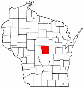 Wisconsin Map showing Portage County