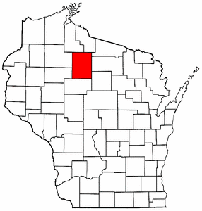 Wisconsin Map showing Price County