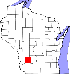 Wisconsin Map showing Richland County