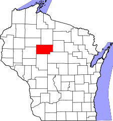 Wisconsin Map showing Taylor County