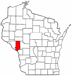 Wisconsin Map showing Trempealeau County