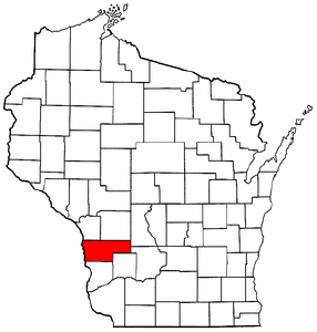 Wisconsin Map showing Vernon County