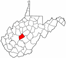 West Virginia Map showing Clay County