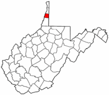 West Virginia Map showing Ohio County