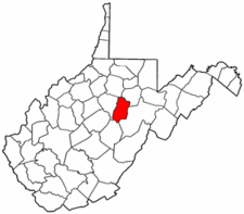 West Virginia Map showing Upshur County