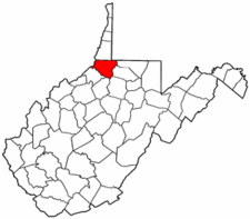 West Virginia Map showing Wetzel County