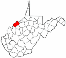 West Virginia Map showing Wood County