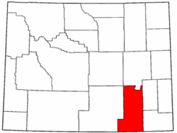 Wyoming Map showing Albany County