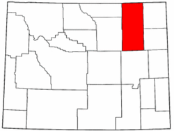 Wyoming Map showing Campbell County
