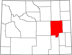 Wyoming Map showing Converse County
