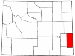 Wyoming Map showing Goshen County