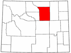 Wyoming Map showing Johnson County