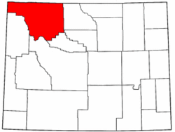 Wyoming Map showing Park County