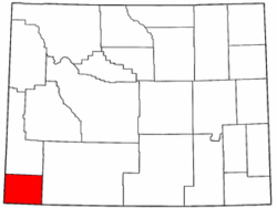 Wyoming Map showing Uinta County