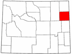 Wyoming Map showing Weston County